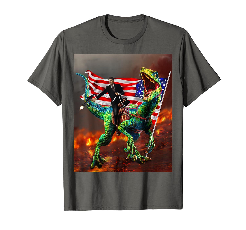 Ronald reagan velociraptor 2020 presidential election-Loveshirt