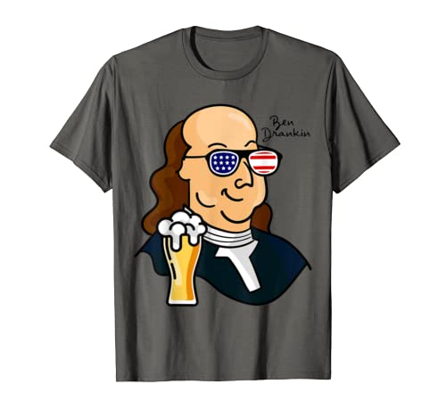 Benjamin Franklin | American Flag Glasses 4th Of July T Shirt