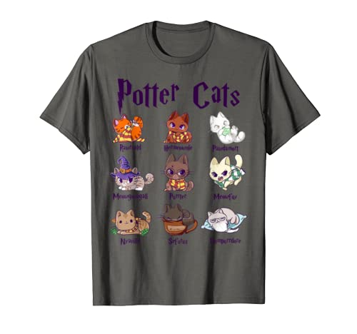Potter Cats Cute Harry Pawter Kitten Gift For Women T Shirt