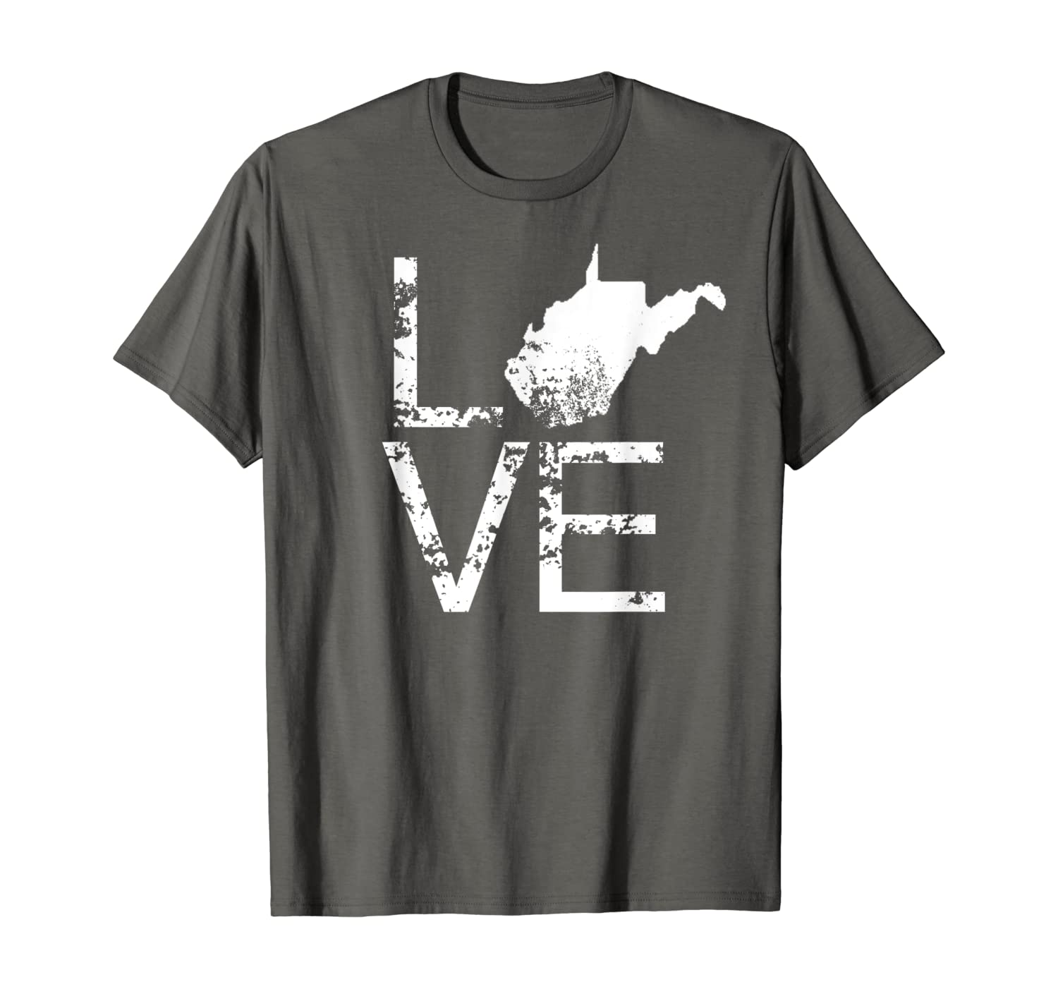 Vintage West Virginia Love WV State Map In Place Of O T-Shirt