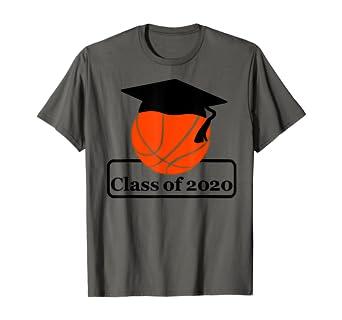 Amazon Com Basketball Senior Night Class Of 2020 Player Graduation Gift T Shirt Clothing