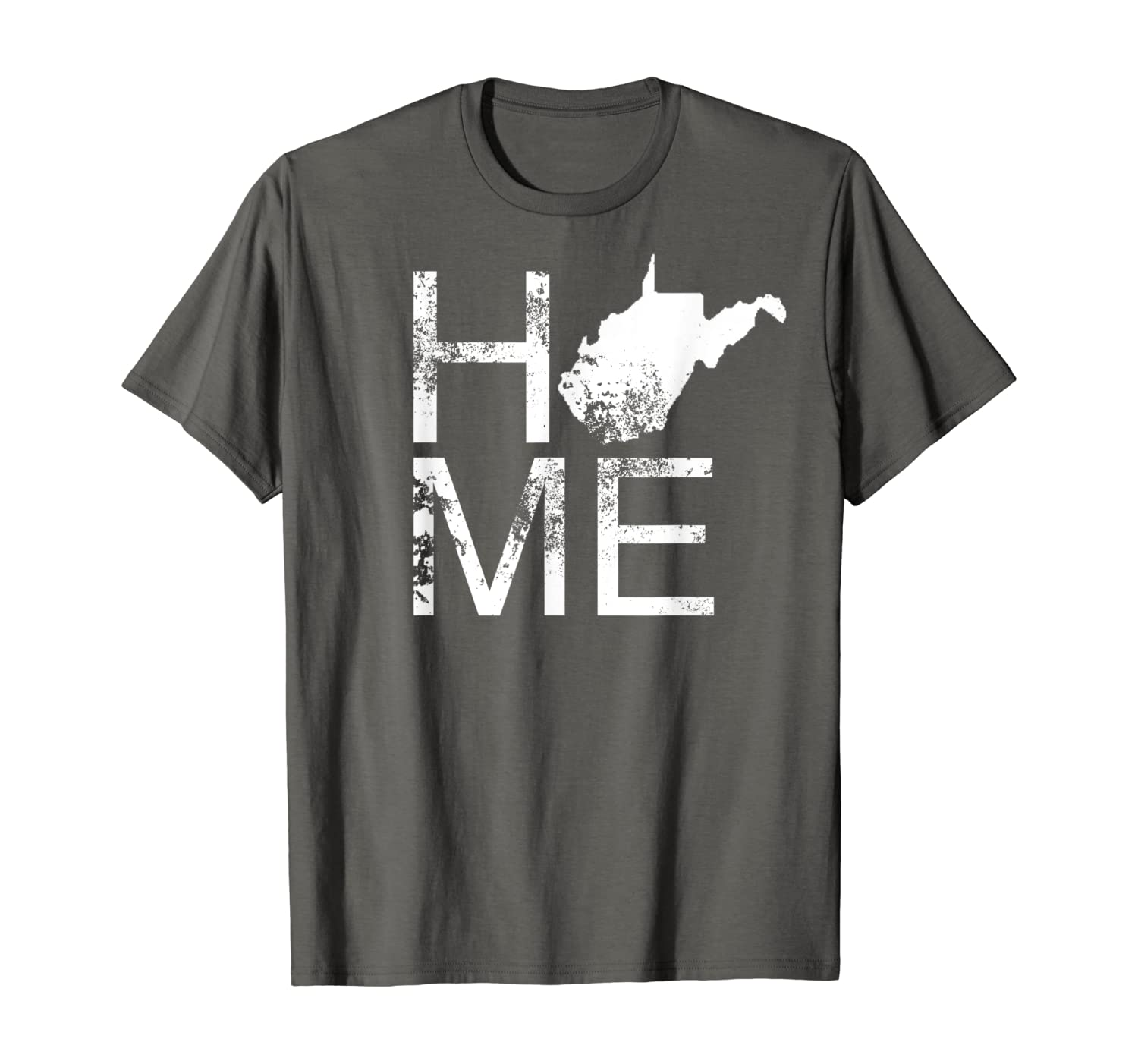 Vintage West Virginia Home WV State Map In Place Of O T-Shirt