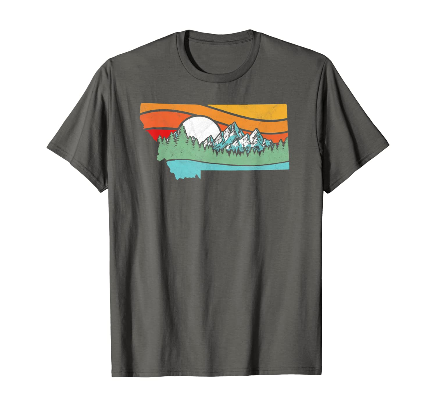Montana Outdoors Retro Mountains & Nature Graphic T-Shirt
