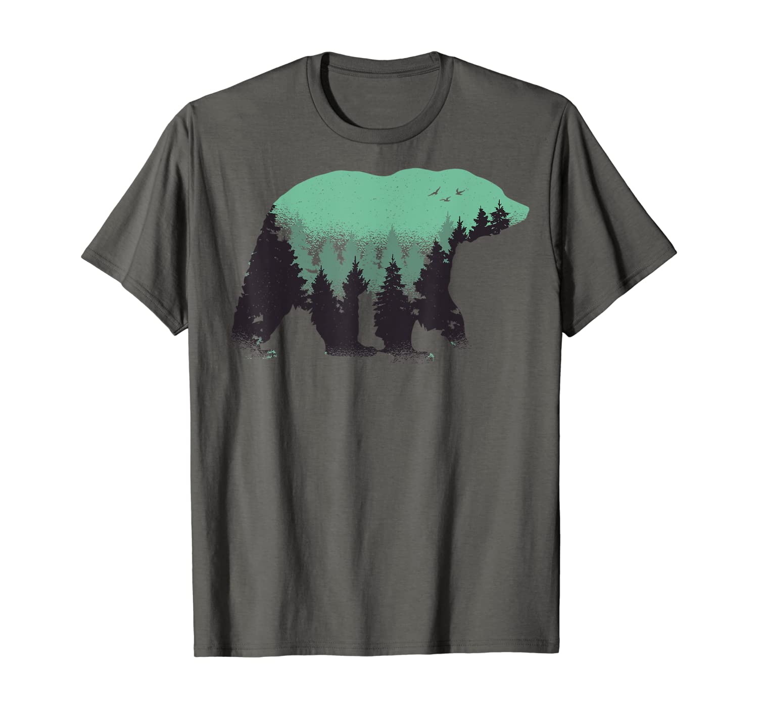 Bear Camping, Nature and Hiking T-Shirt with Forest T-Shirt