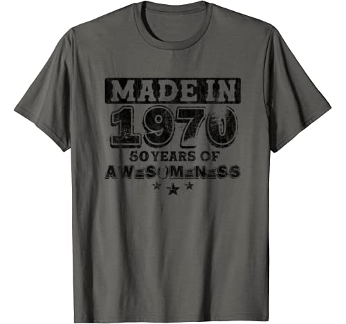 Vintage Made In 1970 50th Bday Gift For Men Woman 50 Yrs Old T Shirt