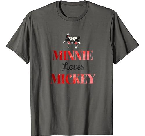 Disney Valentines Minnie Loves Mickey T Shirt