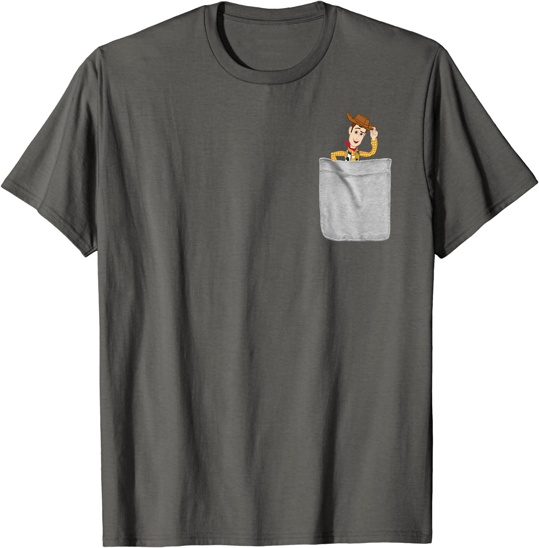Disney Pixar Toy Story Woody Faux Pocket Graphic T-Shirt