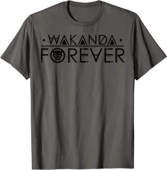 Marvel Black Panther Wakanda Forever Chest T-Shirt