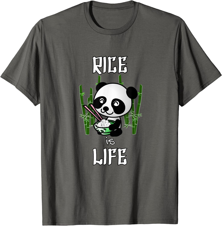 Rice is Life | Cute Kawaii Clothes Panda Filipino Asian Food T-Shirt