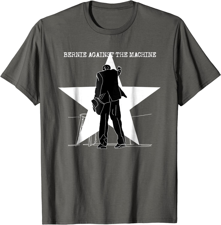 BERNIE SANDERS T 2020 AGAINST THE MACHINE  Unisex Adult Retro PUNK ROCK T-Shirt
