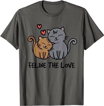 Cute Cat Shirt Cat T Shirt Love T Shirt 2021 Tee Valentine Shirt Feline the Love T Shirt Cat Lover Shirt Gifts for Her Feline Shirt