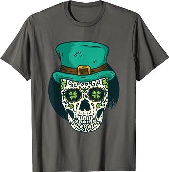 Patrick/'s Day Irish Sugar Skull Men/'s Hoodie St