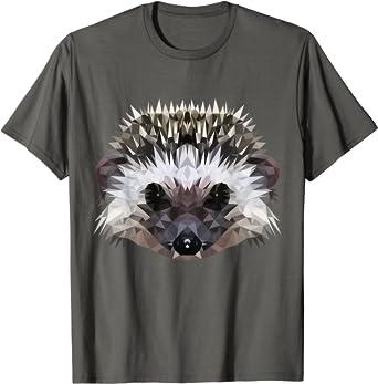 Hérisson - animal mignon de piqûre dans le style de polygone T-Shirt