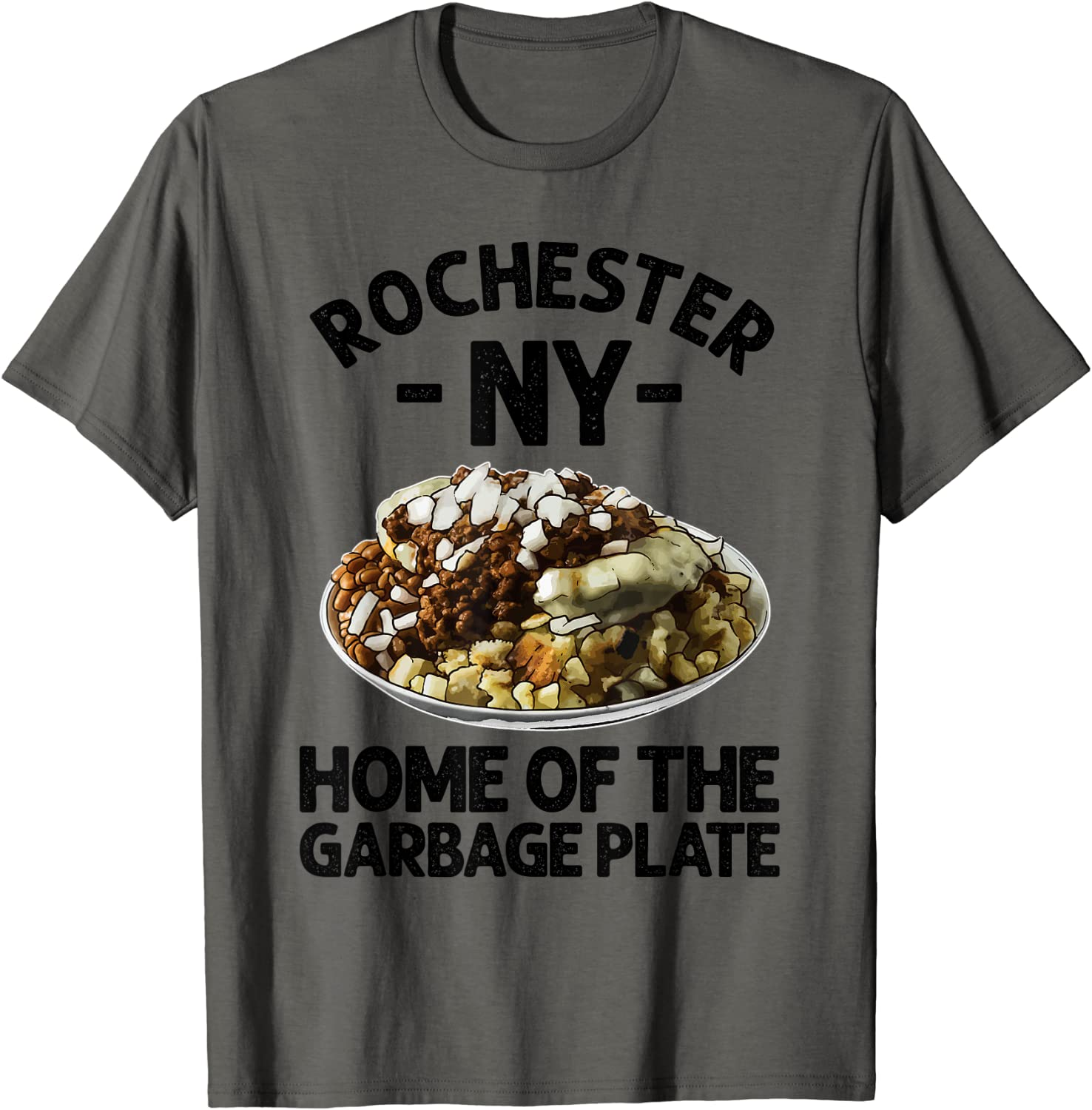 Funny Rochester NY Garbage Plate Gift Cool New York Food Pun T-Shirt