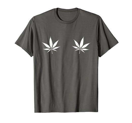 dad468851f34c Marijuana Weed Leaf Boob T Shirt