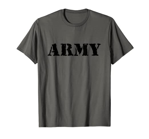 3861ca6226ab Image Unavailable. Image not available for. Color: US Army Shirt, Vintage  Logo, Military T-Shirt