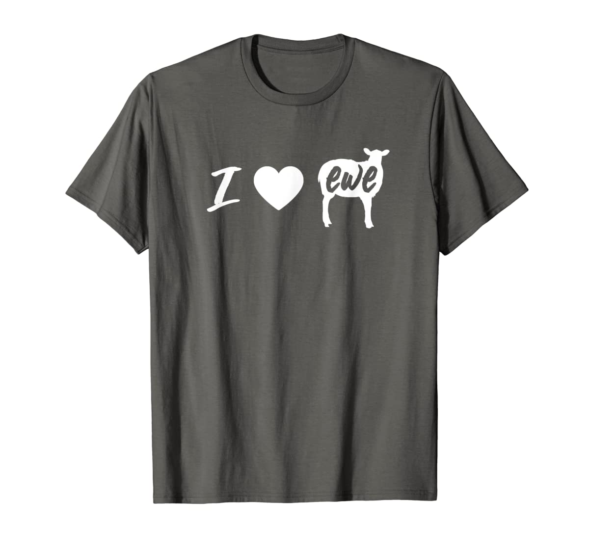 I Love Ewe - I Love You Sheep Pun Shirt-Men's T-Shirt-Dark Heather