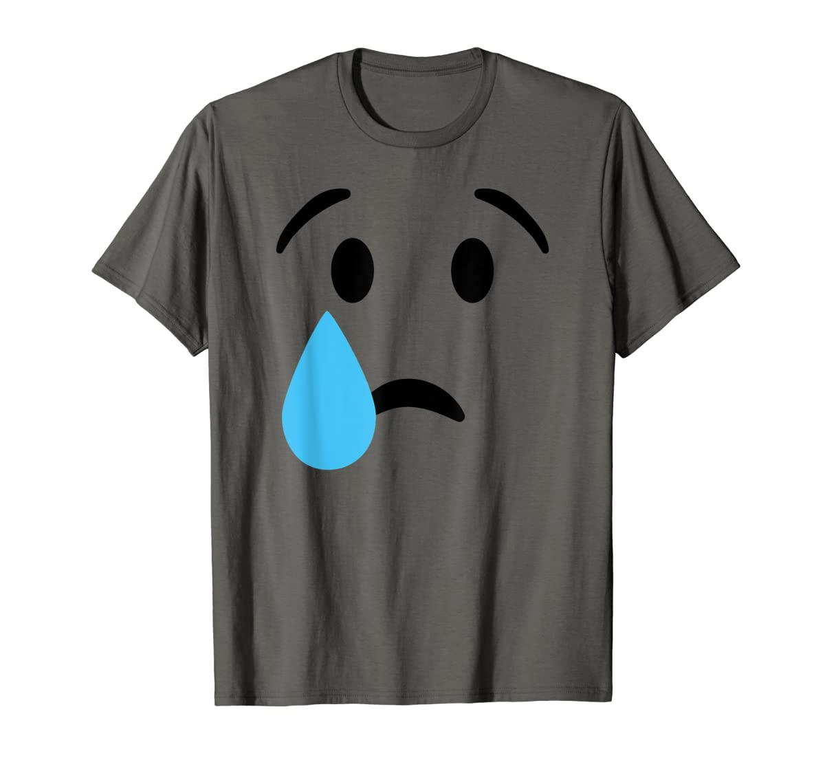 Sad Crying Tear Eyes Face Emojis Emoticon Halloween Costume T-Shirt-Men's T-Shirt-Dark Heather