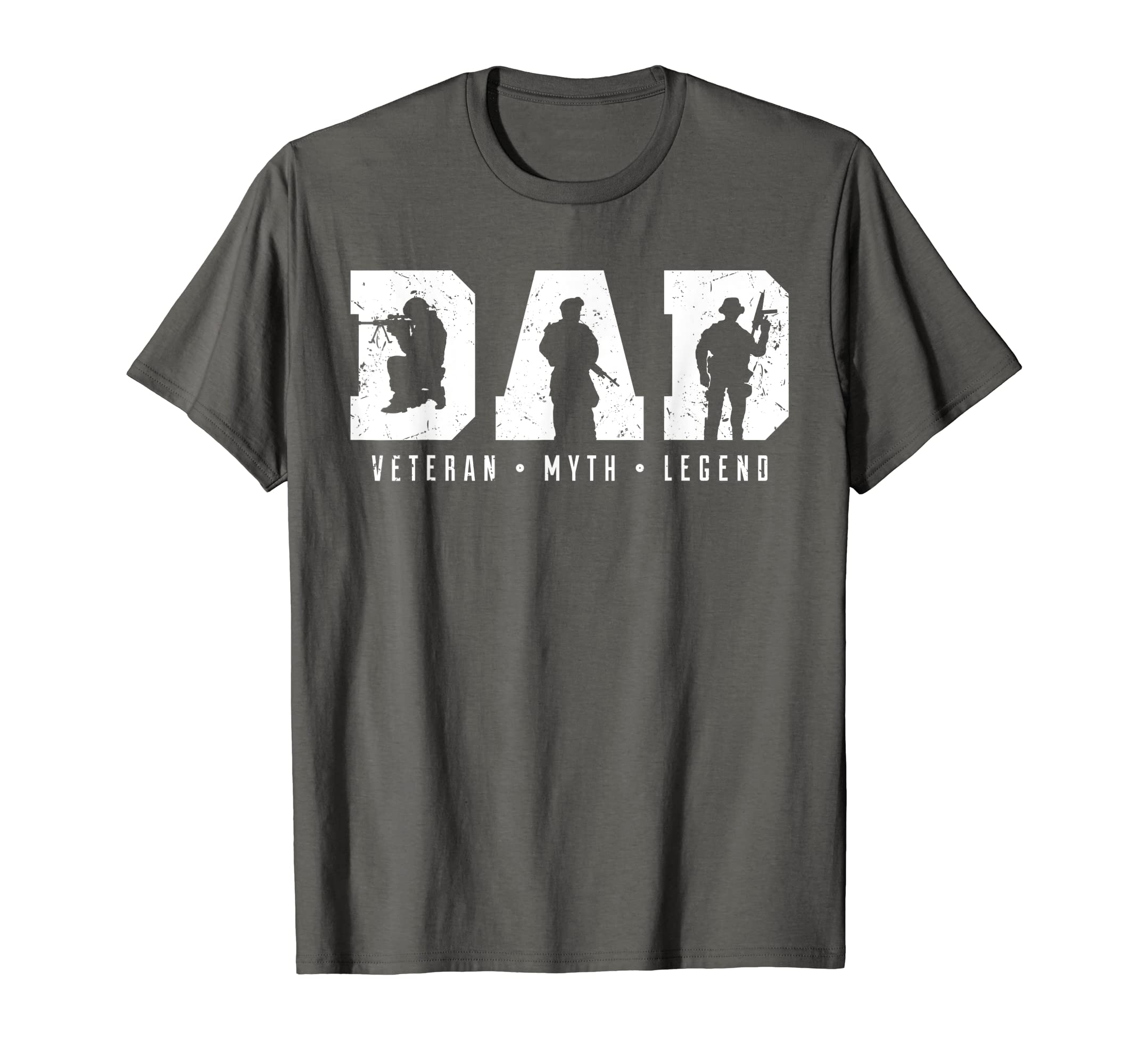 1d4a83cb Amazon.com: Mens Dad Veteran Myth Legend Shirt, Dad Veteran TShirt: Clothing