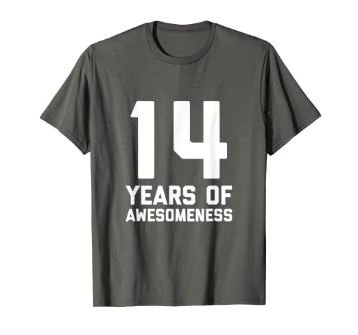 Image Unavailable Not Available For Color 14th Birthday Shirt Gift Age 14 Year Old