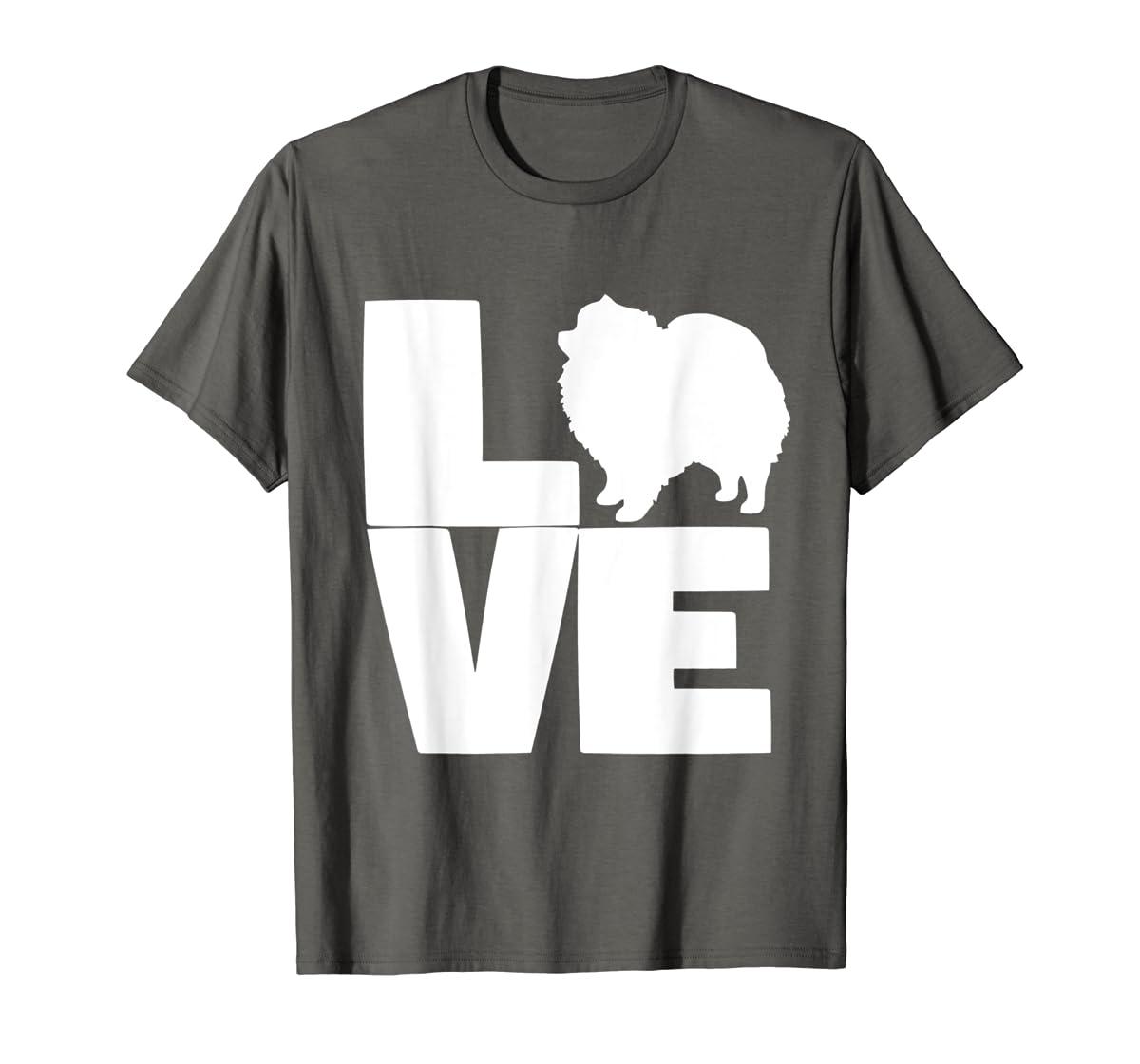I Love Pomeranians Pom Mom or Dad Pet Lover T Shirt-Men's T-Shirt-Dark Heather