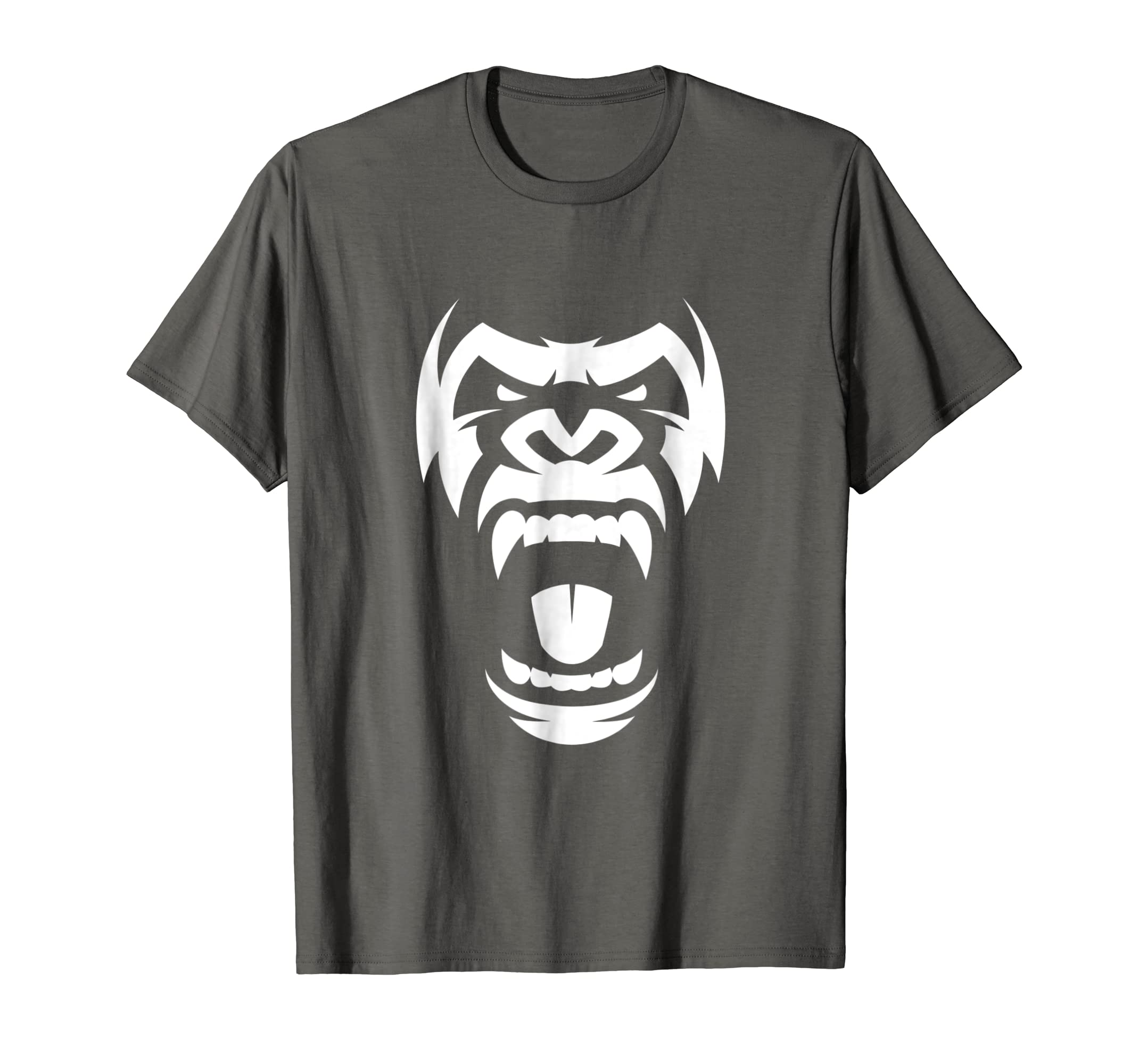 ff4bd05ff Amazon.com: Angry Gorilla T-Shirt - Furious Silverback: Clothing