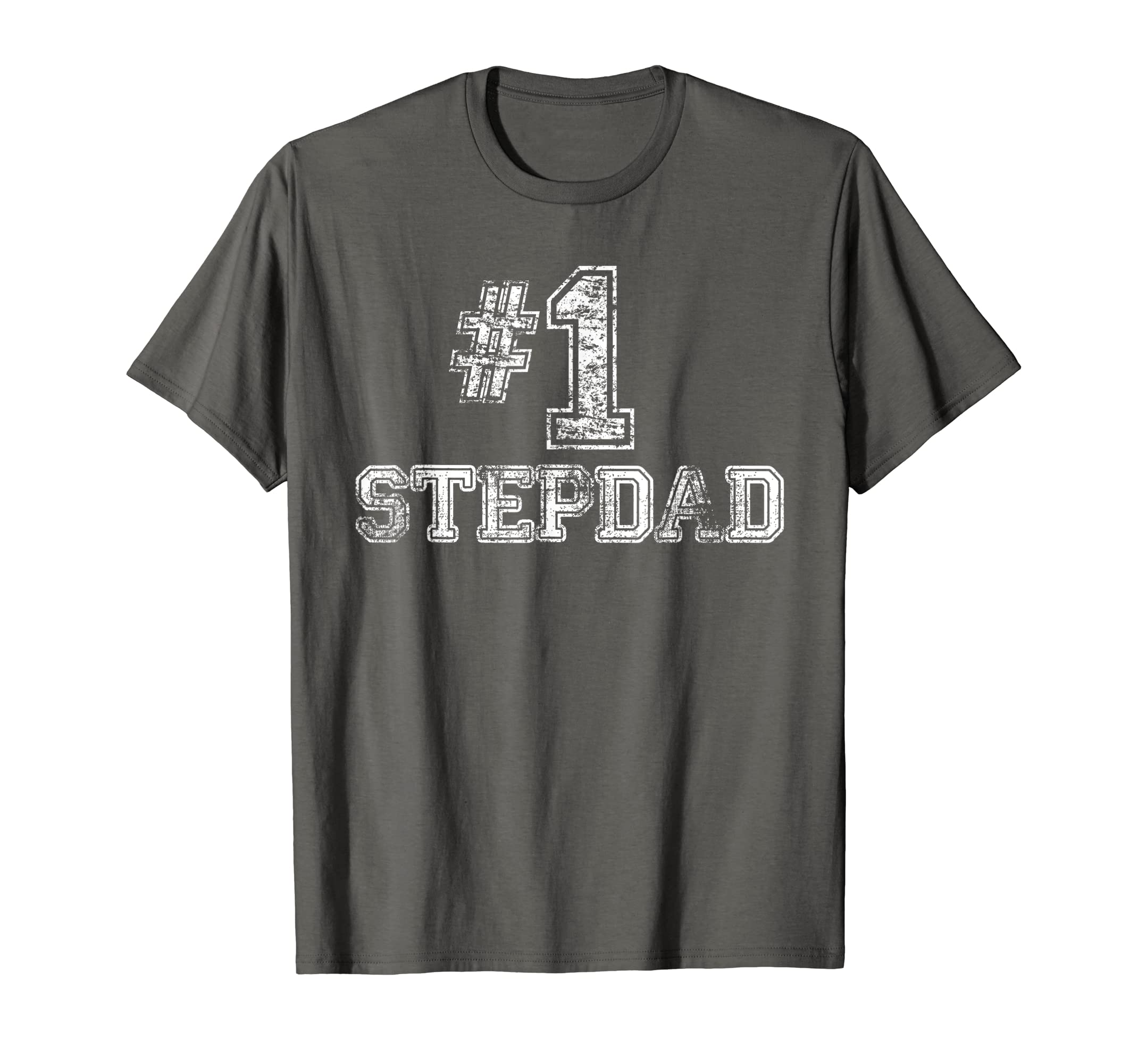 c956d9e4 Amazon.com: Mens #1 StepDad T Shirt Step-Dad Number One Father's Day Gift  Tee: Clothing