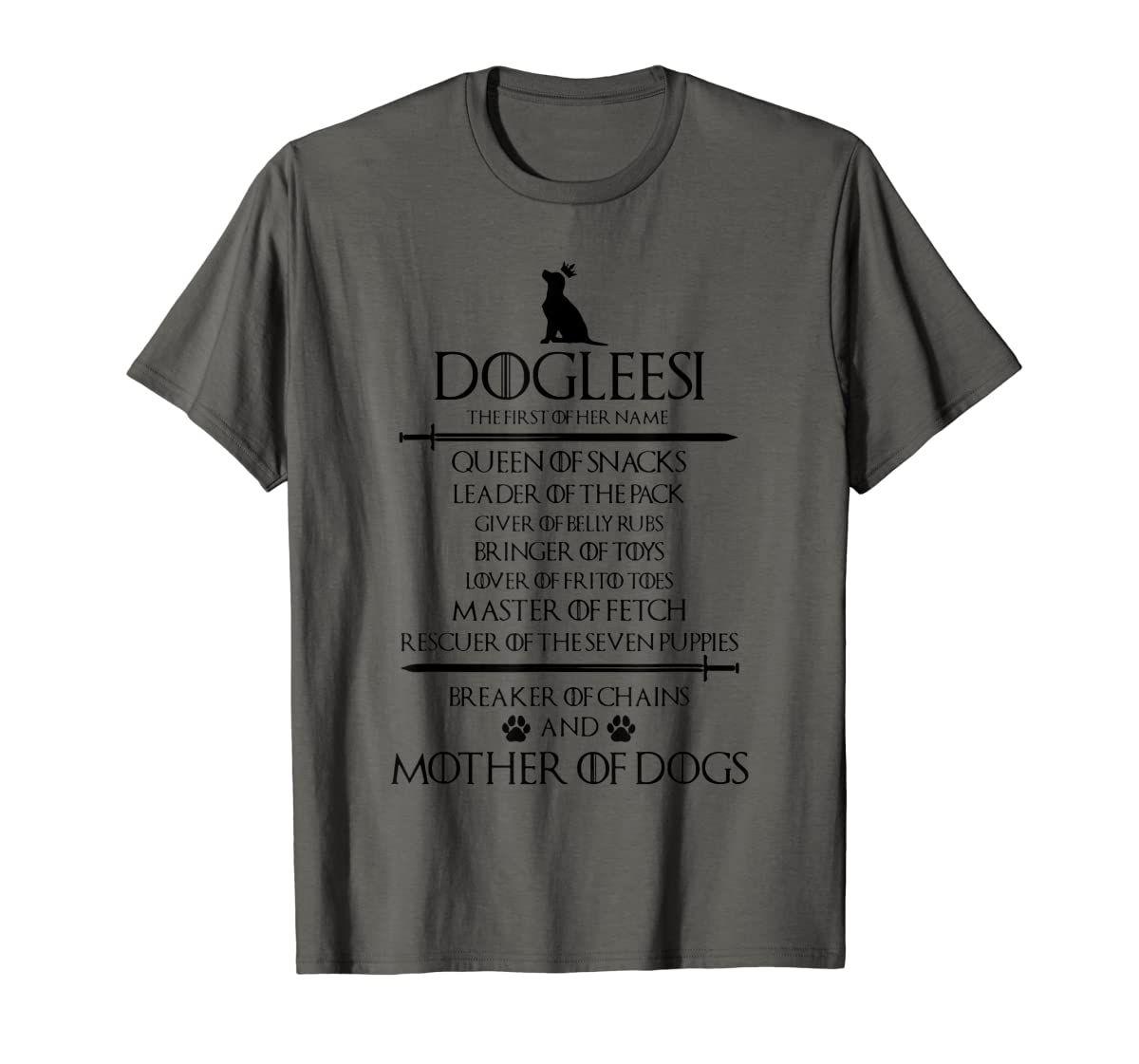 Dogleesi The Firt Of Her Name Mother Woman Gift Shirt-Men's T-Shirt-Dark Heather