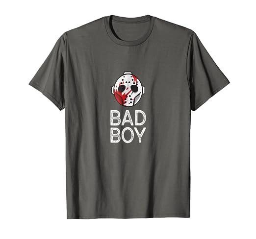 Amazon Com Bad Boy T Shirt Halloween Mask Scary Horror Movie Gifts