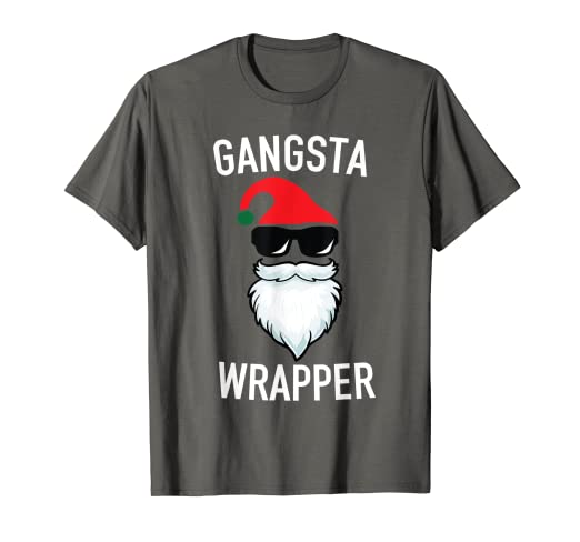 dc09a0cb7b Image Unavailable. Image not available for. Color: Gangsta Wrapper - Funny  Christmas Holiday Gift Rapper Shirt