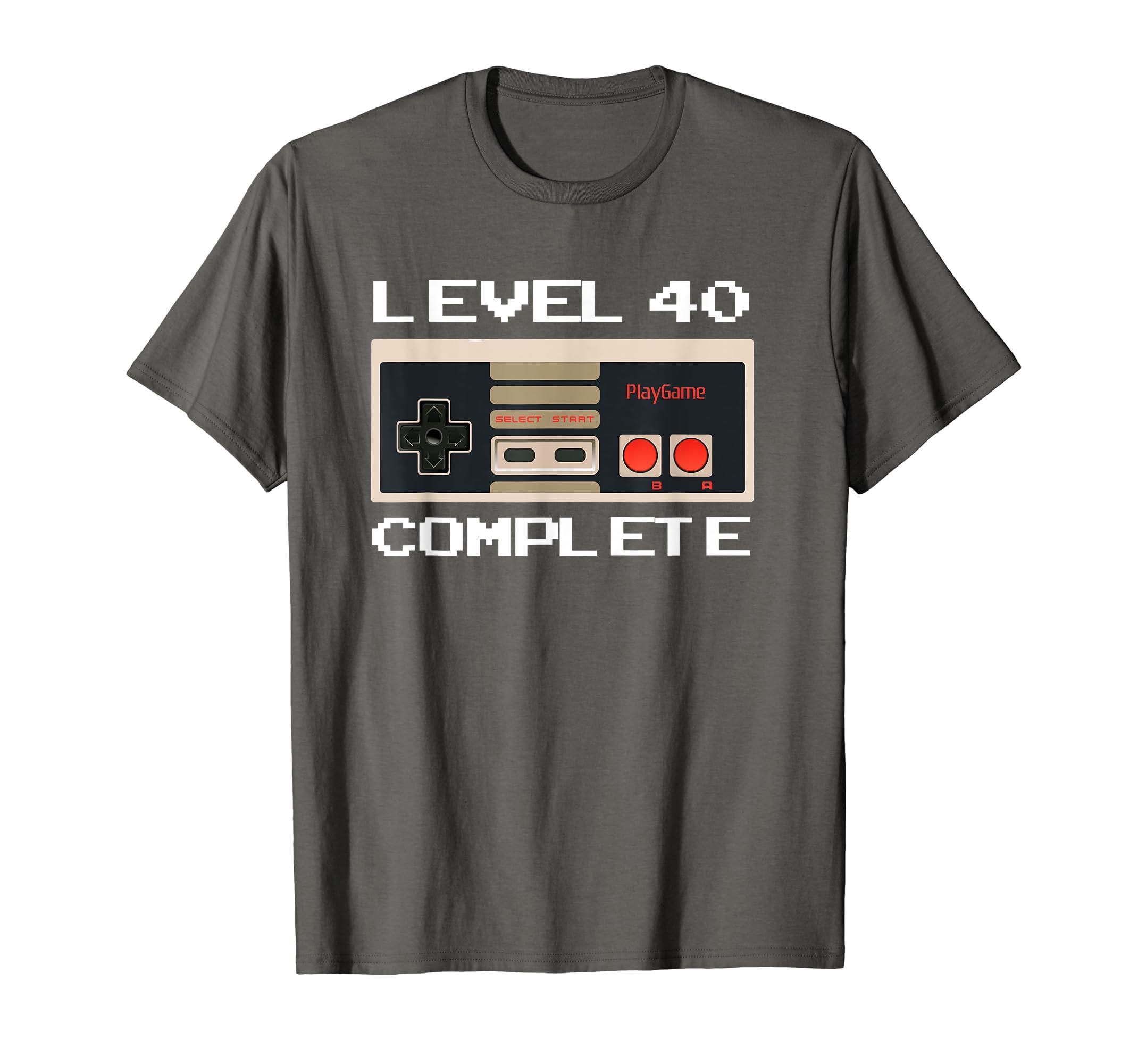 12179247 Amazon.com: Level 40 Complete T-Shirt Men 40th Birthday Gift TShirt:  Clothing
