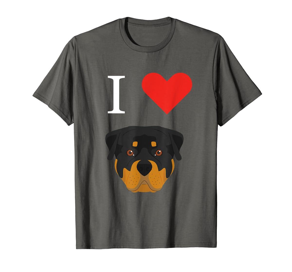 I Love My Rottweiler Dog T-Shirt-Men's T-Shirt-Dark Heather