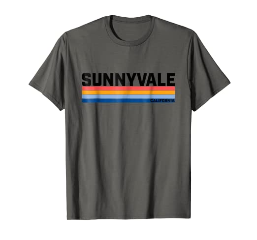6d507563132a Amazon.com  Modern Take on a Retro Style Sunnyvale CA T-Shirt  Clothing