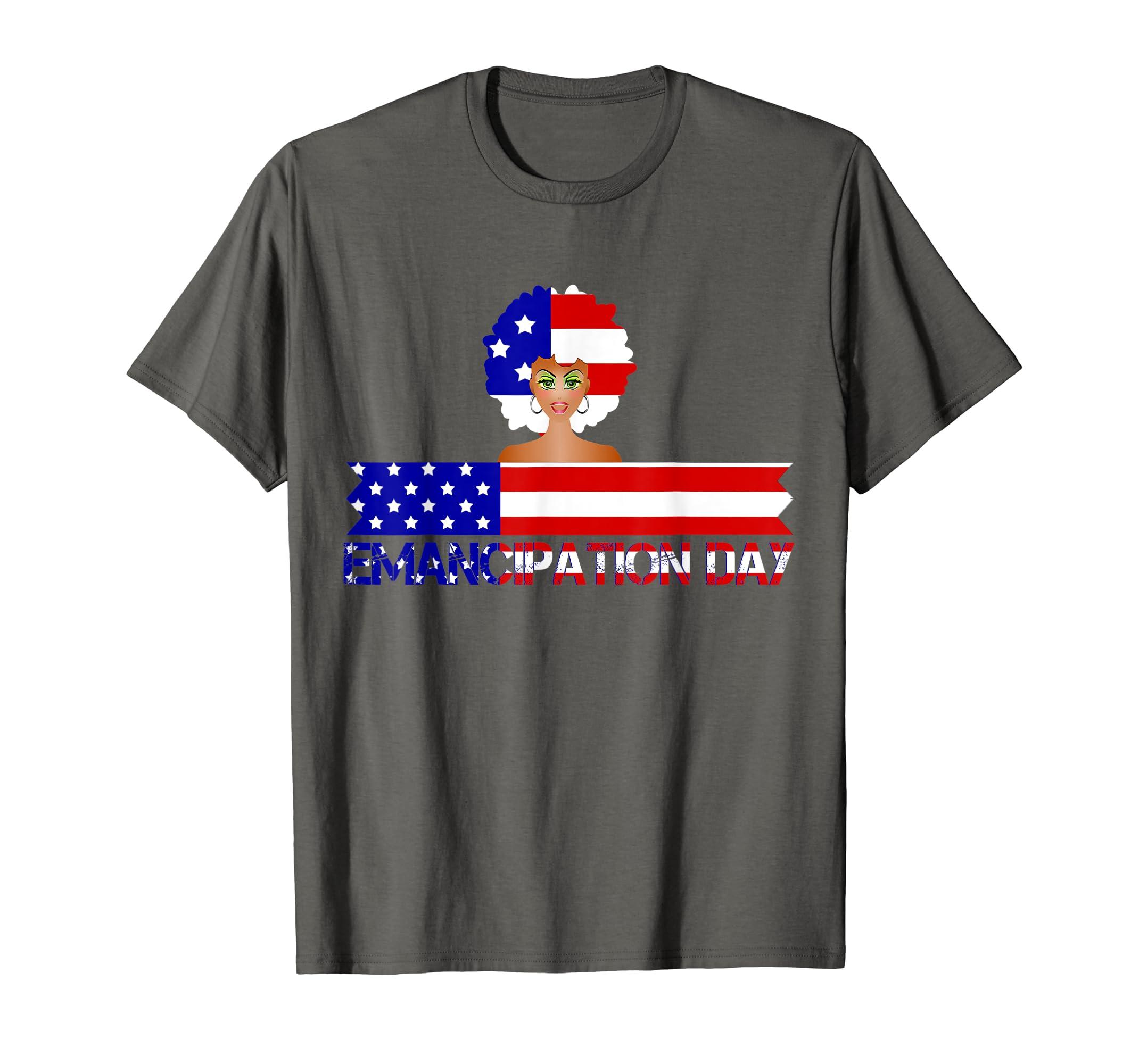 4th Of July Patriotic Emancipation USA Flag Tee-SFL