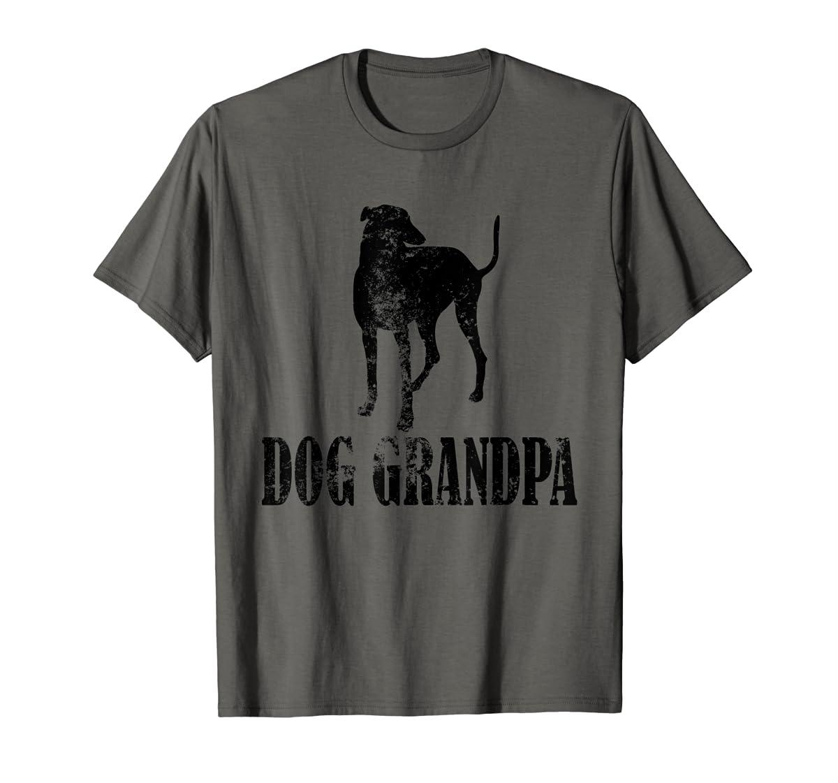 Father's Day T Shirt Greyhound Dog Grandpa T-Shirt Gifts-Men's T-Shirt-Dark Heather
