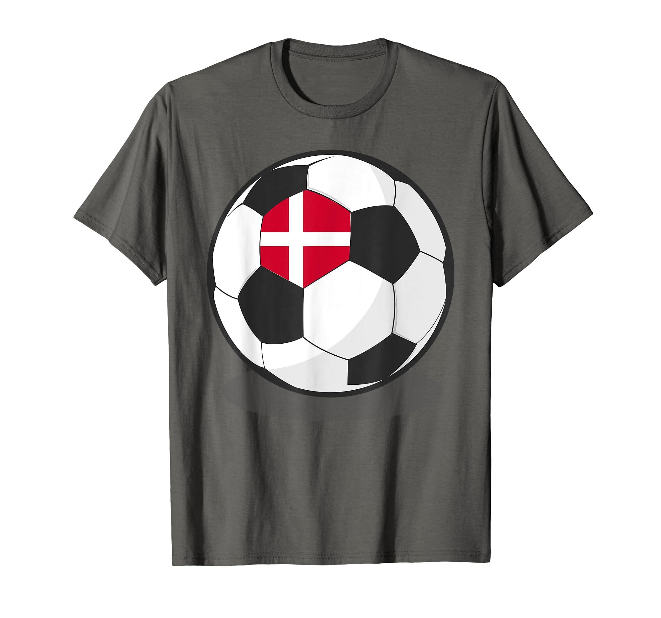 d9680eab3 Amazon.com  Danish Flag On Soccer Ball