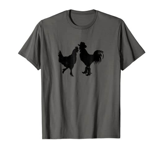 5bdbaa9e8 Image Unavailable. Image not available for. Color: Chicken Shirts Funny  Chickens T Shirt Rooster Cowboy ...