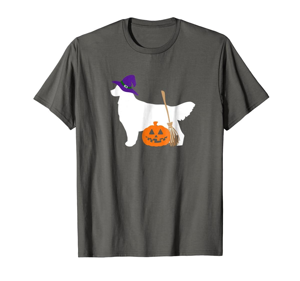 Golden Retriever Witch Hat Halloween Dog T-Shirt-Men's T-Shirt-Dark Heather