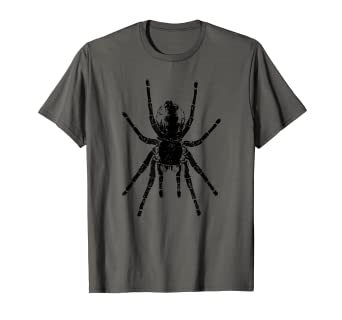 e61d300c Image Unavailable. Image not available for. Color: Scary Tarantula Spider  Halloween Black Arachnid T-Shirt ...