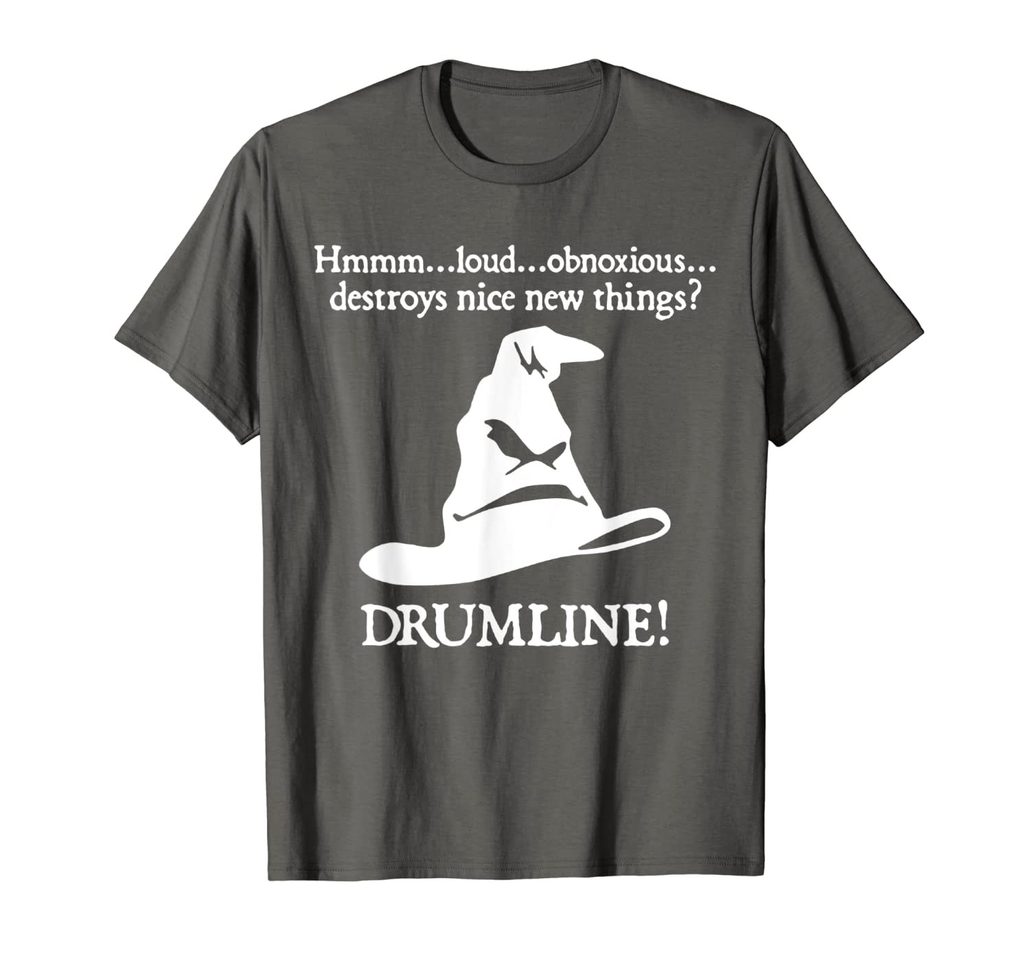 Amazon com: The Sorting Hat Selects The Drum line T-Shirt: Clothing