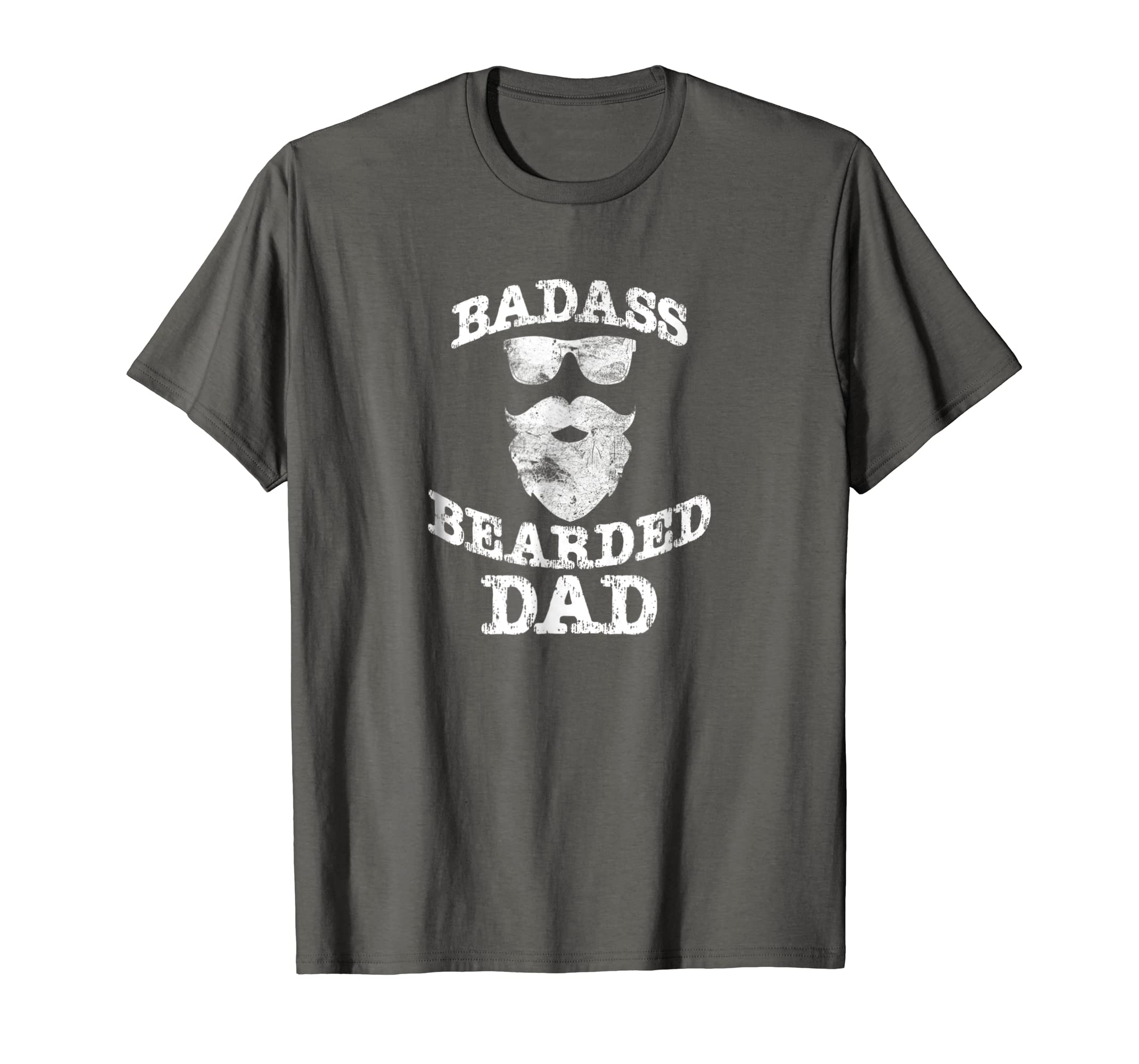 96088dad6 Amazon.com: Mens Badass Bearded Dad Funny Father/Grandfather Gift Shirt:  Clothing