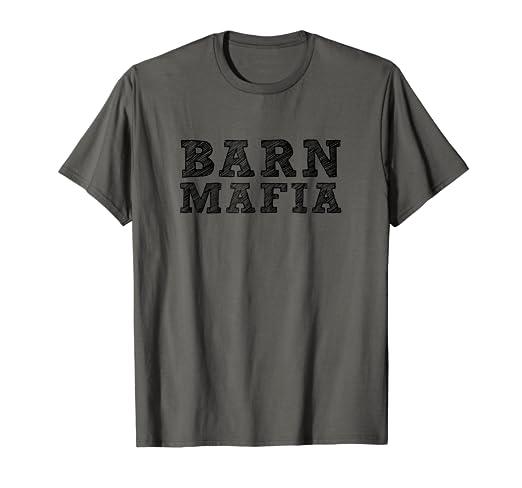 Amazon.com  Barn Mafia (show steers   show pig) T shirt  Clothing 8d4930306614b