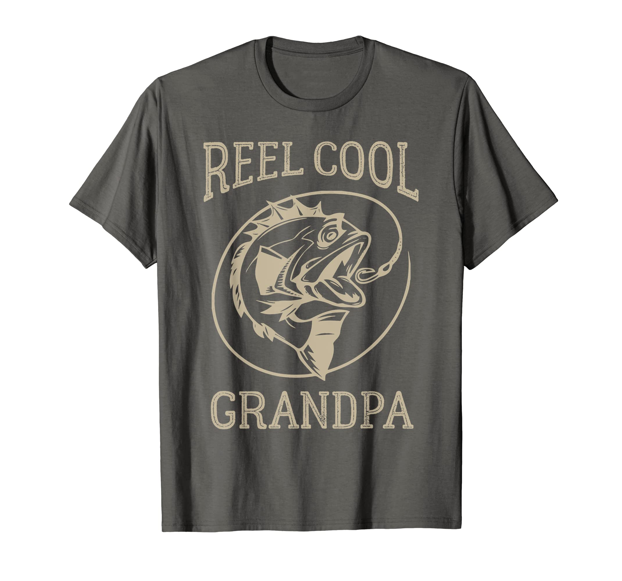 fd69e431 Amazon.com: Mens Reel Cool Grandpa T-Shirt: Clothing