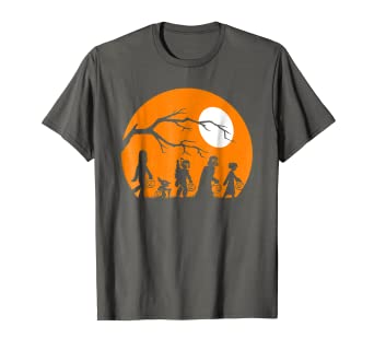 b9ef6ebc Amazon.com: Star Wars Trick Or Treat Halloween Silhouette T-Shirt ...