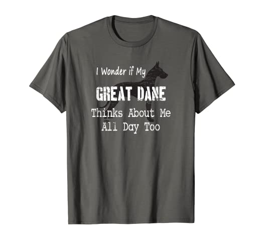 75966108 Image Unavailable. Image not available for. Color: Funny Great Dane T-Shirt  Gift for Dog Lovers