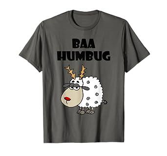 5d8d0ef333 Image Unavailable. Image not available for. Color: SmileteesXMAS Cool Sheep Baa  Humbug Christmas T-shirt
