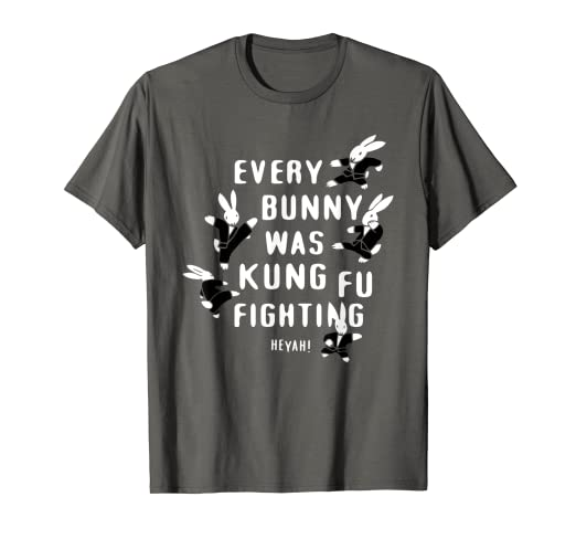 90e38858c Image Unavailable. Image not available for. Color: Every Bunny Was Kung Fu  Fighting Funny Bunny Rabbit T Shirt