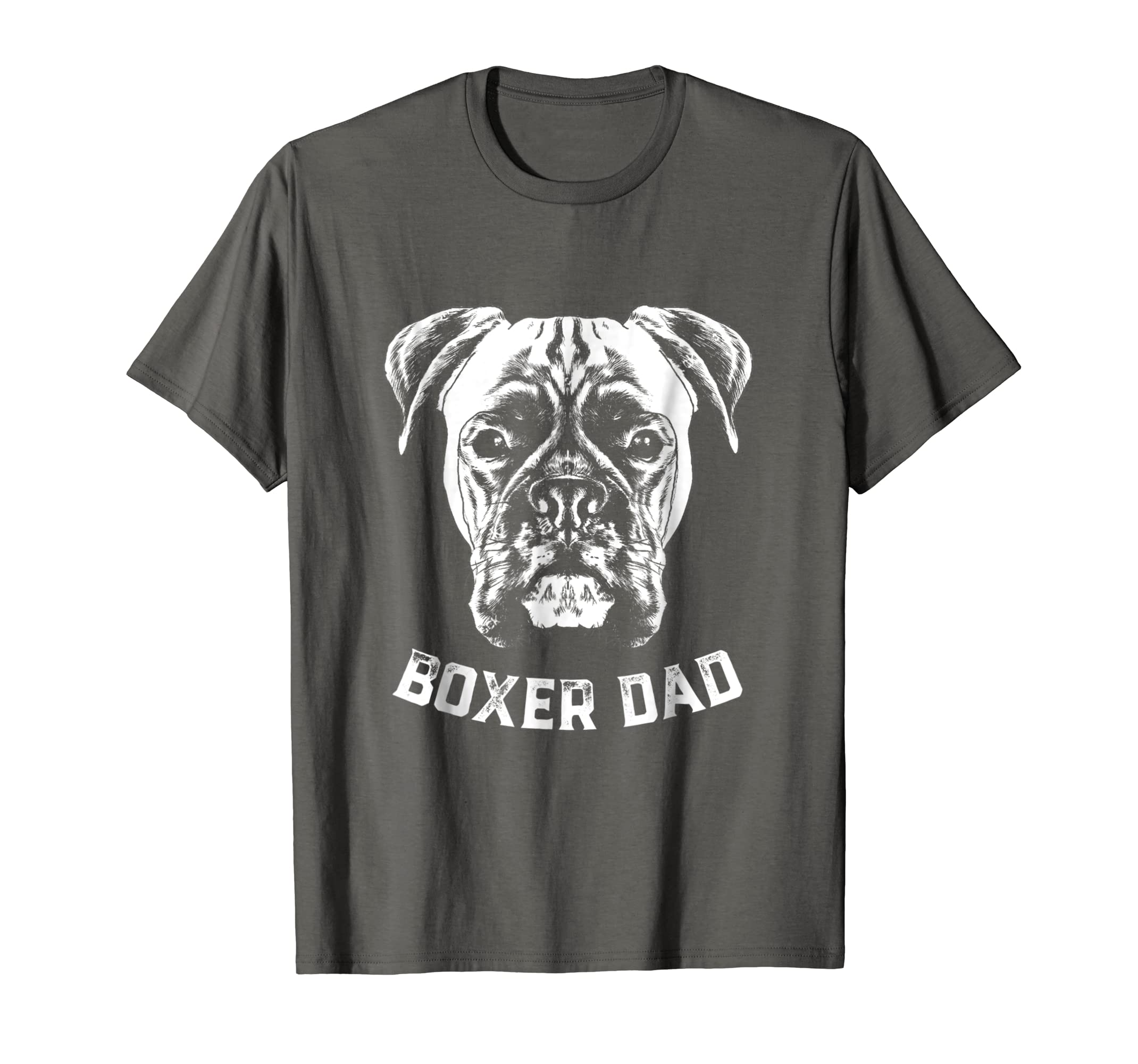 ee4d1a7b Amazon.com: Mens Boxer Dog Dad t shirt Dad gift for boxer dog shirt:  Clothing