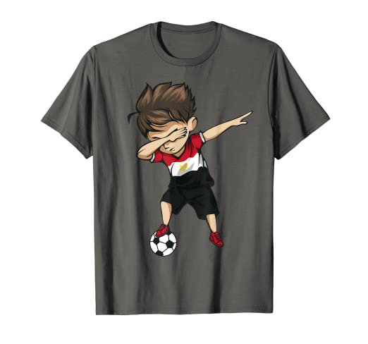60ed96fa2 Image Unavailable. Image not available for. Color: Dabbing Soccer Boy Egypt  Jersey ...