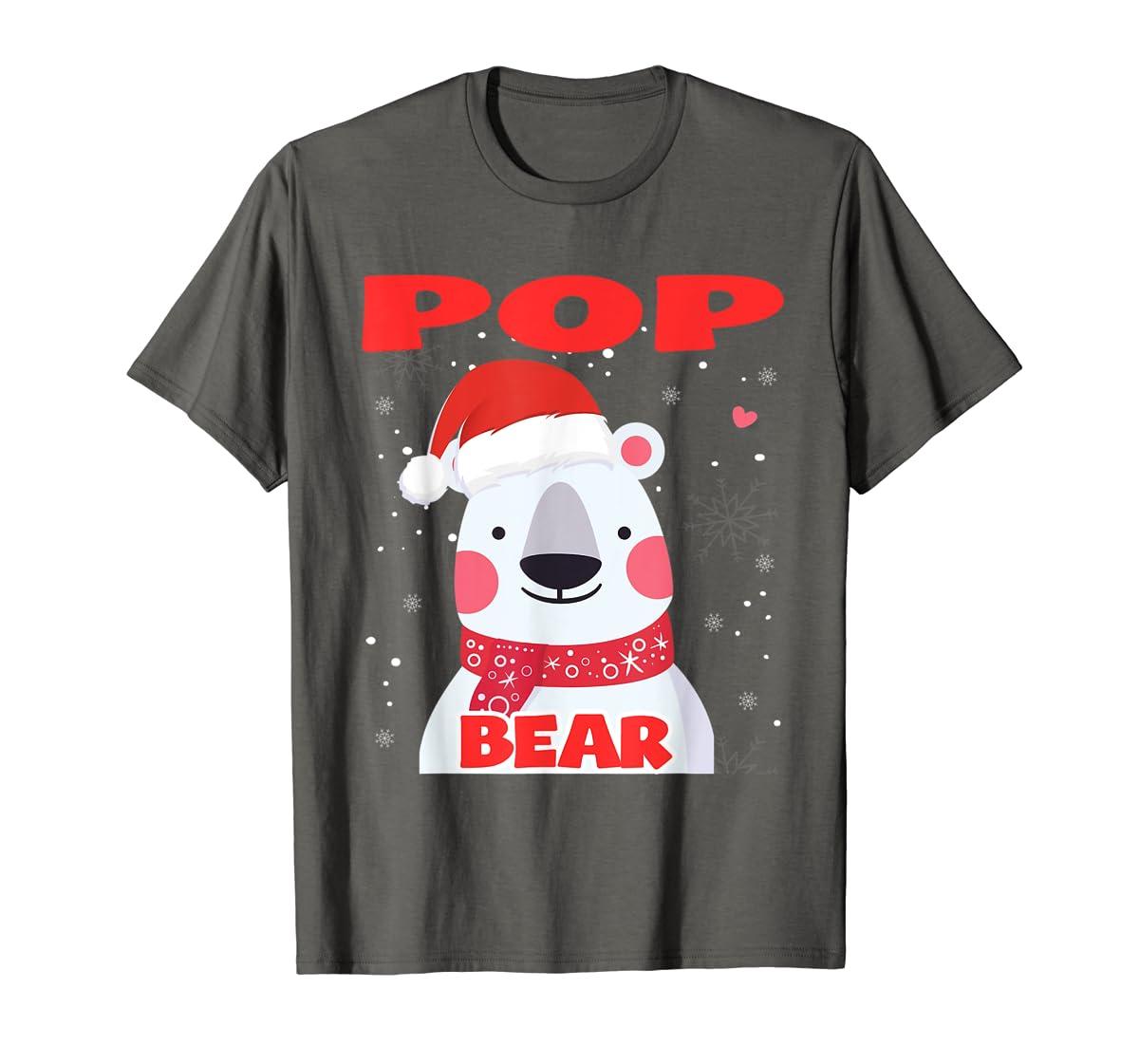 Pop Bear Christmas Grandpa Santa T-Shirt-Men's T-Shirt-Dark Heather